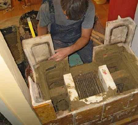 Preslagivanje kaljeve peci
