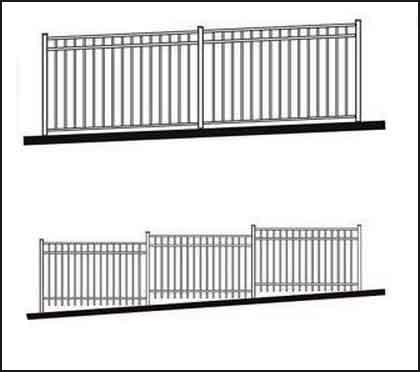 dvorištna ograda od metala