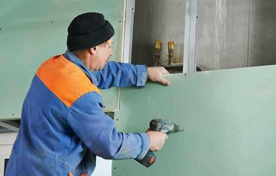 postavljanje gipsanih ploča na zid