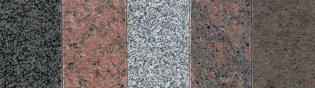različite boje granitnih pločica